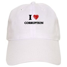 I love Corruption Baseball Baseball Cap