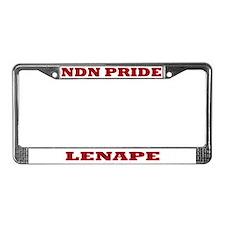 Lenape NDN Pride License Plate Frame