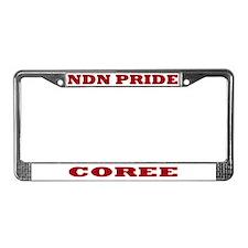 Coree NDN Pride License Plate Frame