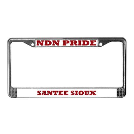 Santee Sioux NDN Pride License Plate Frame License