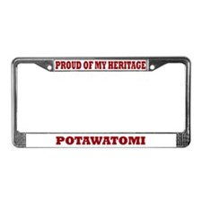 Proud of My Potawatomi Heritage Lic. Plate Frame