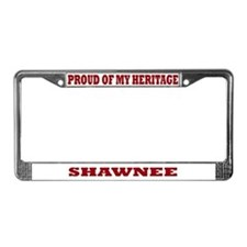 Proud of My Shawnee Heritage License Plate Frame