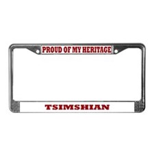 Proud of My Tsimshian Heritage License Plate Frame