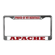 Proud of My Apache Heritage License Plate Frame