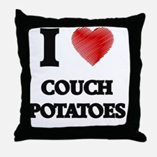 I love Couch Potatoes Throw Pillow