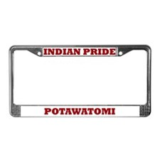 Indian Pride Potawatomi License Plate Frame