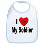 I Love My Soldier Bib