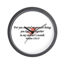 """You Knit Me Together"" Wall Clock"