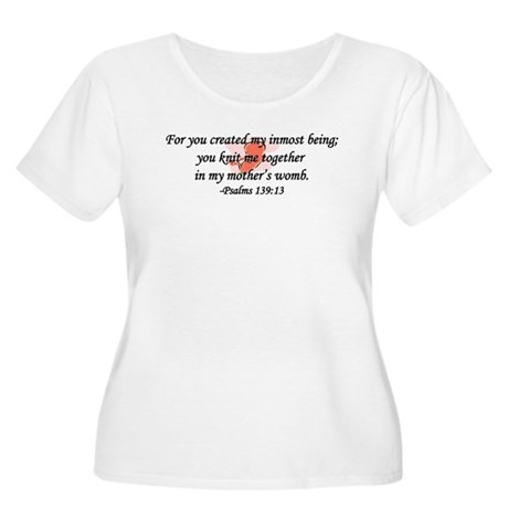 """You Knit Me Together"" Women's Plus Size Scoop Tee"