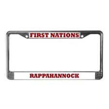 First Nations Rappahannock License Plate Frame