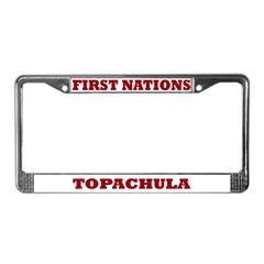 First Nations Topachula License Plate Frame