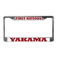 First Nations Yakama License Plate Frame