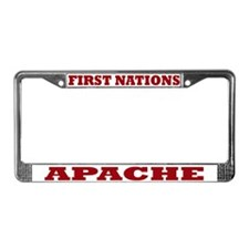 First Nations Apache License Plate Frame