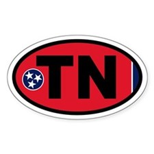 Tennessee Flag Oval Decal