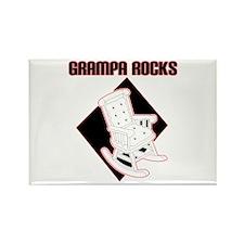 Grampa Rocks Rectangle Magnet
