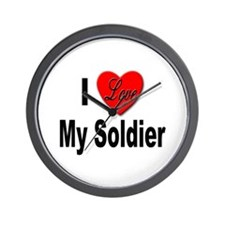 I Love My Soldier Wall Clock