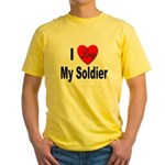 I Love My Soldier Yellow T-Shirt