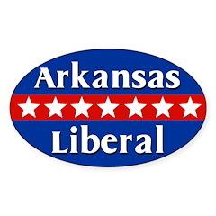 Arkansas Liberal Oval Car Decal