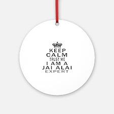 jai Alai Expert Designs Round Ornament