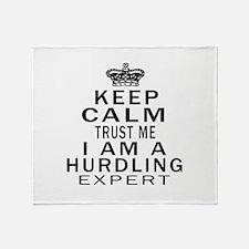 Hurdling Expert Designs Throw Blanket