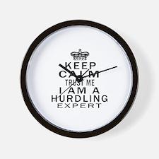 Hurdling Expert Designs Wall Clock