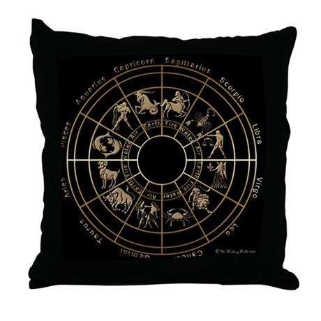 Zodiac Signs Throw Pillow by twiztedzone