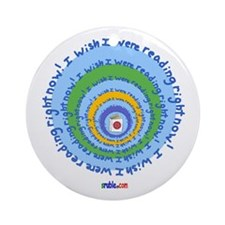 Reading Wishes Round Ornament