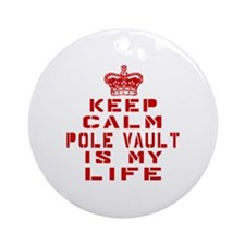 Keep Calm and Pool Playing Round Ornament