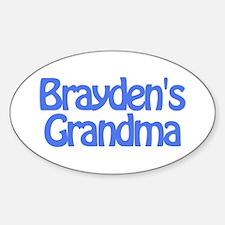 Brayden's Grandma Oval Decal