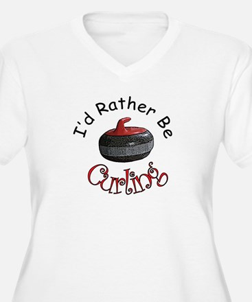 I'd Rather Be Curling T-Shirt