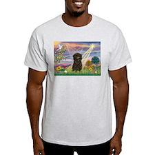 Cloud Angel & Affenpinscher Ash Grey T-Shirt