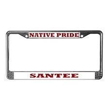 Native Pride Santee License Plate Frame