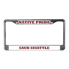 Native Pride Sauk Suiattle License Plate Frame