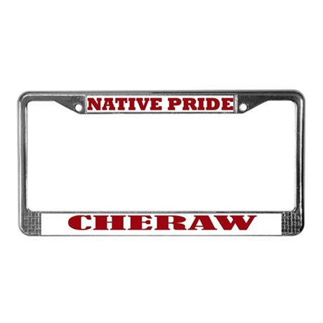 Native Pride Cheraw License Plate Frame