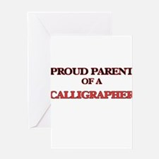 Proud Parent of a Calligrapher Greeting Cards