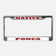 Ponca Native License Plate Frame