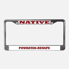 Powhatan-Renape Native License Plate Frame