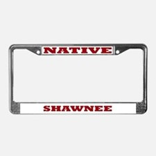Shawnee Native License Plate Frame