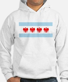 Chicago Flag w/ Polish Eagle Hoodie