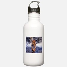 Tiger In Waterfall Sports Water Bottle