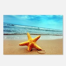 Starfish On The Beach Postcards (Package of 8)