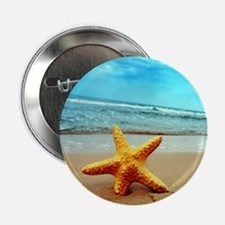 """Starfish On The Beach 2.25"""" Button (10 pack)"""