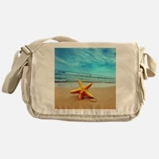 Starfish On The Beach Messenger Bag