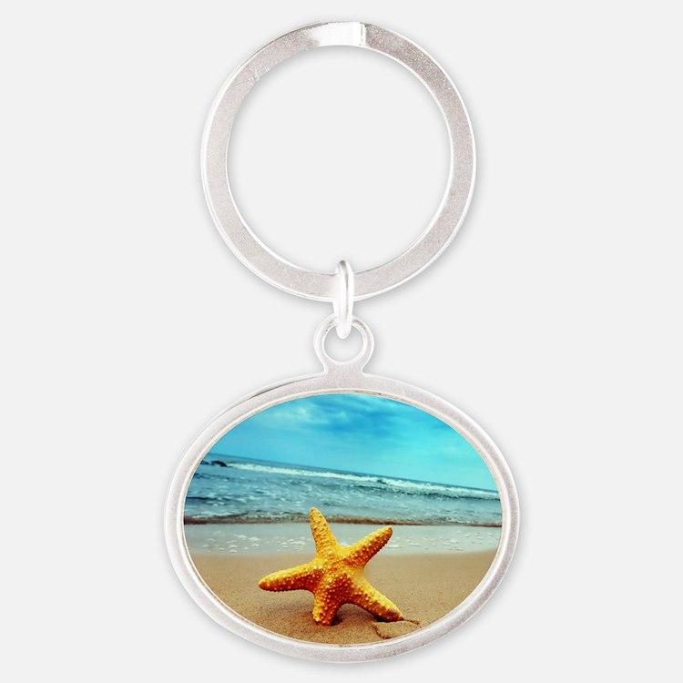 Starfish On The Beach Keychains