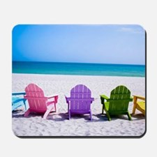 Lounge Chairs On Beach Mousepad