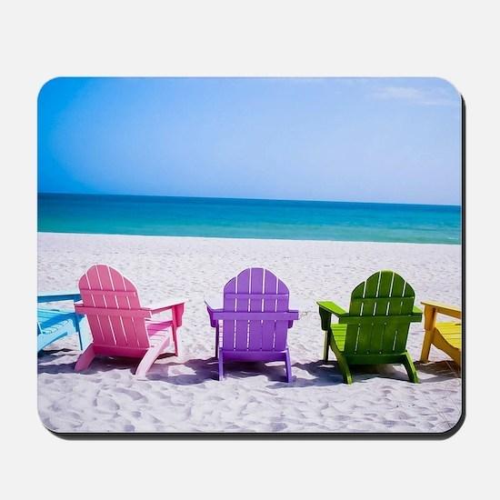Lounge Chairs On Beach Mousepad