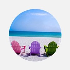 Lounge Chairs On Beach Button
