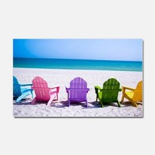 Lounge Chairs On Beach Car Magnet 20 x 12