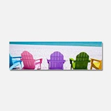 Lounge Chairs On Beach Car Magnet 10 x 3