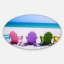 Lounge Chairs On Beach Decal